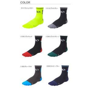 R×L SOCKS アールエルソックス 550R TBK-550R 1060ブラック/グリーン バイクソックス 自転車用靴下|roomania-l|03