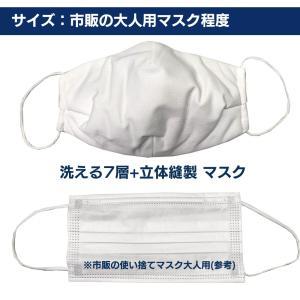 布マスク 洗える マスク 在庫あり 6枚セット 7層構造 布マスク ノーズワイヤー 立体縫製  高機能 大人用【返品不可】 roombania 07
