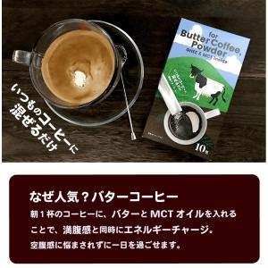 バターコーヒー用 パウダーMCT入り 10包×3箱=30杯分 手軽なスティック入り MCTパウダー mctパウダー mctオイル ミルクカルシウム 送料無料|roombania|03