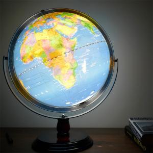 地球儀 しゃべる  地球儀  直径30cm  光る ライト AR 日本語 英語 地勢図/行政 2タイプ インテリア 子供 ランプ 全方位回転 山岳隆起|roombania|19