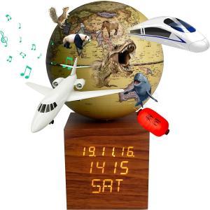地球儀 しゃべる  地球儀 時計&オルゴール付き 光る 回る ライト付き AR アプリ 直径13cm 日本語 英語 地勢図/行政 2タイプ インテリア アンティーク 子供用|roombania|18