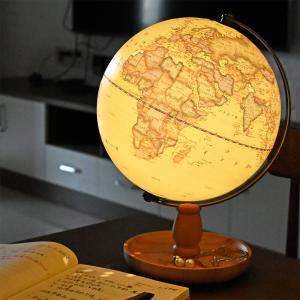 地球儀 しゃべる 地球儀 直径20cm 光る ライト AR アプリ  日本語 英語 地勢図/行政 インテリア アンティーク/リアルアース 子供 ランプ|roombania|18