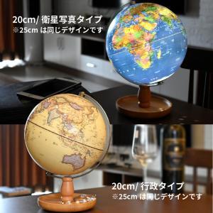 地球儀 しゃべる 地球儀 直径20cm 光る ライト AR アプリ  日本語 英語 地勢図/行政 インテリア アンティーク/リアルアース 子供 ランプ|roombania|03