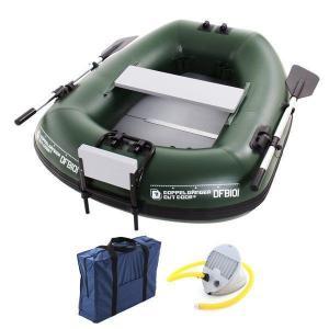 フィッシング用ボート バスフローターボート フットポンプ付 DFB101 DOPPELGANGER OUTDOOR 代引不可 同梱不可|roomdesign