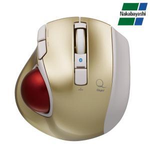 ナカバヤシ Digio2 極小トラックボール「Q」 小型 Bluetooth 静音 5ボタントラックボール ゴールド MUS-TBLF134GL(同梱・代引き不可)|roomdesign