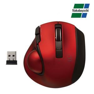ナカバヤシ Digio2 極小トラックボール「Q」 小型 無線 静音 5ボタントラックボール レッド MUS-TRLF132R(同梱・代引き不可)|roomdesign