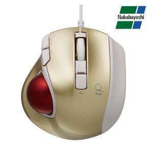 ナカバヤシ Digio2 極小トラックボール「Q」 小型 有線 静音 5ボタントラックボール ゴールド MUS-TULF133GL(同梱・代引き不可)|roomdesign