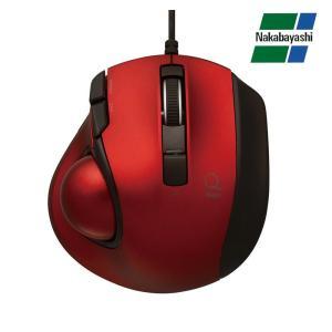 ナカバヤシ Digio2 極小トラックボール「Q」 小型 有線 静音 5ボタントラックボール レッド MUS-TULF133R(同梱・代引き不可)|roomdesign