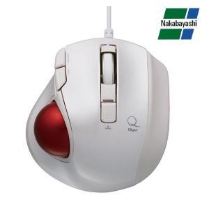 ナカバヤシ Digio2 極小トラックボール「Q」 小型 有線 静音 5ボタントラックボール ホワイト MUS-TULF133W(同梱・代引き不可)|roomdesign