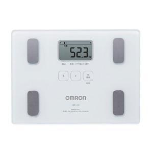 シンプル機能&ガラス仕様のスリムデザイン オムロン (OMRON) 体重体組成計 カラダスキャン HBF-212 ホワイト|roomdesign