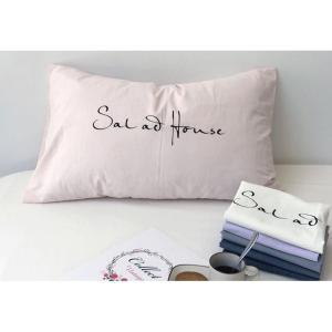 カラー豊富☆Sau at Home オシャレロゴ シンプル ピローケース 枕カバー roomfort