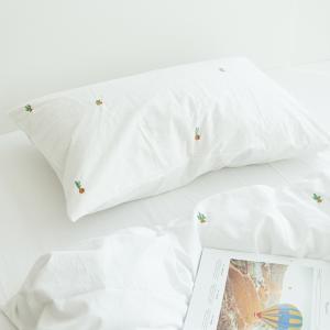 可愛いサボテン パターン刺繍 コットン ピローケース 枕カバー roomfort