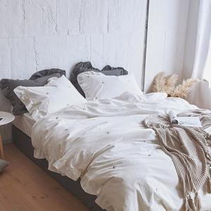 【SD/D/Q】さくらんぼ柄 ナチュラル コットンベッドカバー 4点セット|roomfort