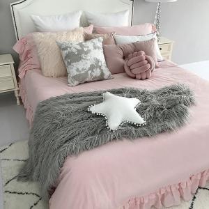 即納あり★【S】ティアード フリル プリンセス ベッドカバー 3点セット|roomfort