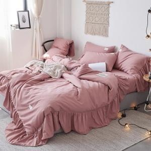 【SD/D】たっぷりロングフリル プリンセス ベッドカバー 4点セット|roomfort