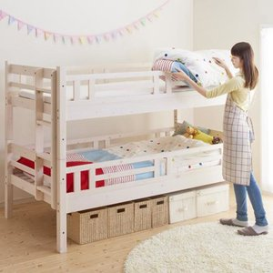 【 商品の大きさ / SIZE 】 本体サイズ:(約) 二段ベッド 幅107.5×長さ211.5×高...