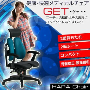 Hara Chair ハラチェア GET コンパクトタイプ(全8色 メッシュタイプ)メッシュチェア 腰痛対策