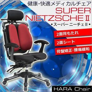 ポイント10倍SUPER-NIETZSCHE2 ハラチェア スーパーニーチェ2【背もたれ2面・座面2面】(全7色)メッシュチェア 腰痛対策