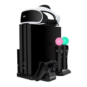 PS4スタンド 2018新型PS4/PS4 PRO/PS4 SLIM多機種充電 冷却 収納 多機能縦...