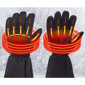 Moobom ヒーター手袋 電気手袋 バッテリー発熱手袋 電熱グローブ 防風 温度調整可能 寒さ対策...
