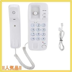 SoarUp 有線電話 固定電話機 電話機 フラッシュ機能付き ミュート機能付き コンパクト 外部電源不要 (白)|roomy29
