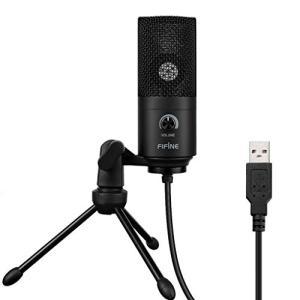 FIFINE ファイファイン USB コンデンサーマイク PC PS4 通話用 Skype 配信 単...
