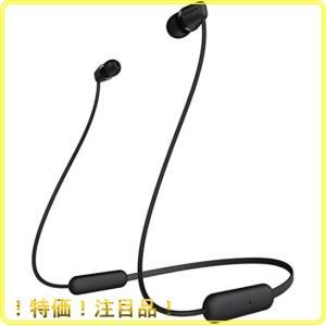ソニー ワイヤレスイヤホン WI-C200 : Bluetooth対応/最大15時間連続再生/マイク付き 2019年モデル ブラック WI-C200 BC|roomy29
