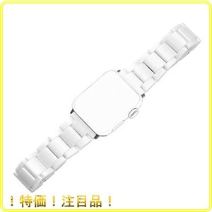 Apple Watch バンド Sakulaya セラミック製 アップルウォッチ ベルト Apple Watch Series 6 /SE 44MM 対応 バンド|roomy29