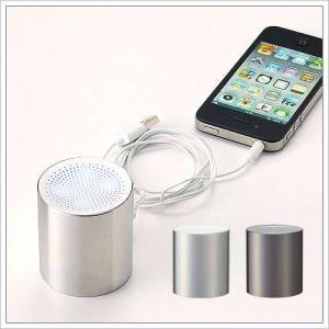 スマホ用スピーカー iPhone6 iPhone5S iPhoneスピーカー 小型 ミニスピーカー ( メタルラウンドスピーカー ) roomy