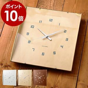 壁掛け時計 おしゃれ 北欧 オシャレ IDEA ( イデア ウッドガラスクロック グランデ )