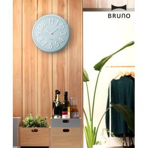 壁掛け時計 掛け時計 かけ時計 ブルーノ エンボスクロック おしゃれ かけ レトロ 北欧 かわいい BCW013 ブルー シンプル[ BRUNO エンボスウォールクロック ]|roomy|03