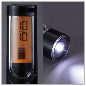 懐中電灯 目覚まし時計 照明 LEDライト アウトドア ( アクリルクロック&トーチライト )|roomy