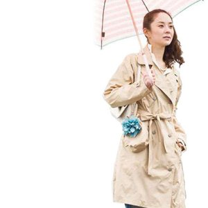 レインコート Raincoat トレンチコート ポンチョ カッパ 自転車 ( レイニーフラワー TRENCH )|roomy