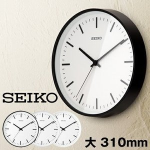 壁掛け時計 seiko セイコー ( パワーデザイン 電波アナログクロック STANDARD Lサイズ )|roomy