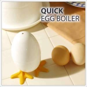 電子レンジ ゆで卵器 玉子 たまご 調理器 キッチン 雑貨 ( クイックエッグボイラー 1個用 )|roomy