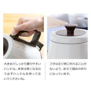 電気ケトル クラシックケトル リーブル レコルト おしゃれ ステンレス 0.8L 800ml 電気ポット コーヒー [ recolte Classic Kettle Libre ] roomy 09