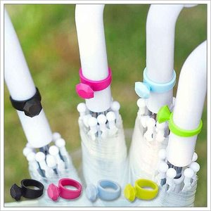 山崎実業 シリコン 滑り止め 傘 雑貨 指輪 ダイヤ ファッション 目印 かわいい ( リング アンブレラマーカー )|roomy