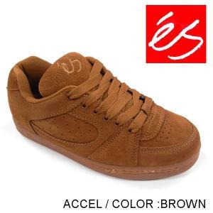 'es / ACCEL ( エス / アクセル )  color BROWN スケートボード シューズ|rooop503