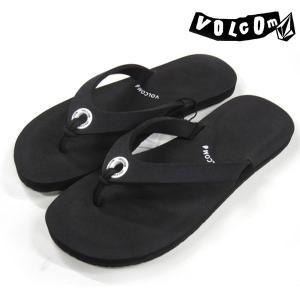 レディース サンダル 【VOLCOM/ボルコム】 blah sandal w0811301 color black|rooop503