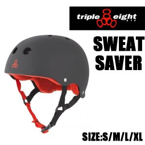 【TRIPLE 8 / トリプルエイト】 SWEATSAVER HELMET (スケートボード ヘルメット) color black rubber|rooop503