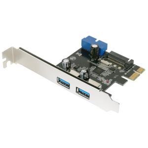 USB3.0 PCI-E 2+1 内部19pinあり SATA電源 ロープロ【ゆうメール】|roop3r