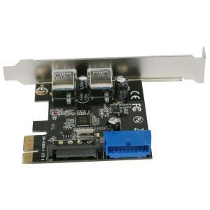 USB3.0 PCI-E 2+1 内部19pinあり SATA電源 ロープロ【ゆうメール】|roop3r|03