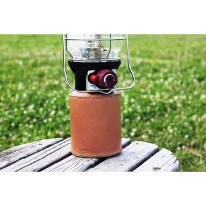 ガス缶 OD缶 カバー レザー 本革 500サイズ ケース 茶紐|roostoutdoors