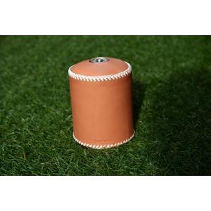 ガス缶 OD缶 カバー レザー 本革 500サイズ ケース 白紐|roostoutdoors