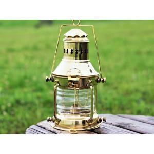Brass Oil Ship Lantern 25.5cm (真鍮オイルランタン シップランプ 船灯) ネルソンランプ アンカーランプ 真鍮ランタン roostoutdoors
