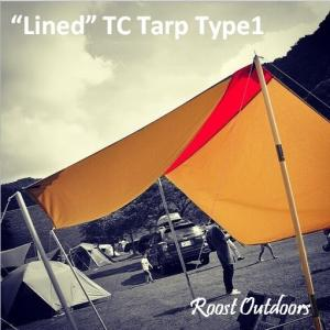 """Lined"" TC Tarp Type1(300x300 ポリコットンタープ) Water Repellent(撥水コーティング)|roostoutdoors"