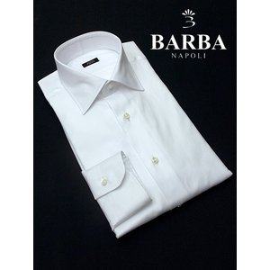 BARBA/バルバ/ドレスシャツ/セミワイドカラー/ホワイト/bar322401|rootweb
