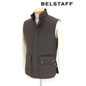 BELSTAFF/ベルスタッフ/キルティングベスト/ライニング使用可/WAIST COAT QUILTED MAN/ダークブラウン/bel341607|rootweb