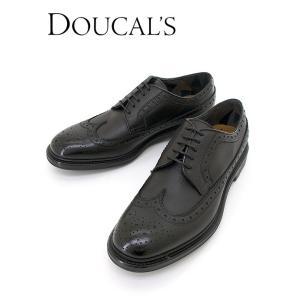 DOUCALS/デュカルス/コンフォートレザーシューズ/ロングウィングチップ/ブラック/dou342002 rootweb