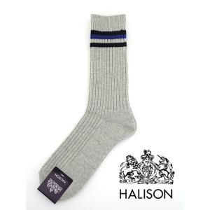 HALISON/ハリソン/アイビークルーソックス/ライトグレー/hal341406|rootweb